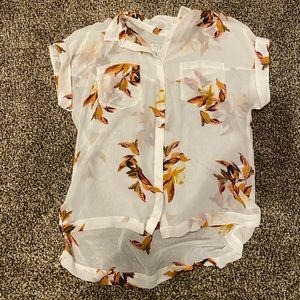 A New Day Floral Top